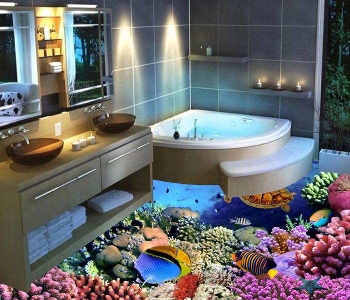 3D Fish-corals-turtle.
