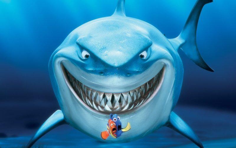 3D nemo e tubarão