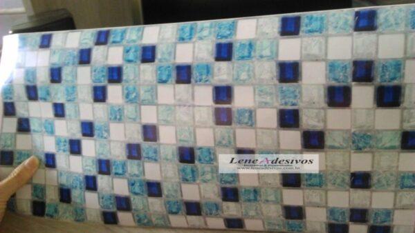 Faixas bordas adesivas decorativas para piscinas pastilhadas azul