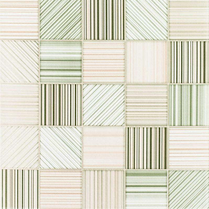 Pastilhas Adesivas em listras verde claro