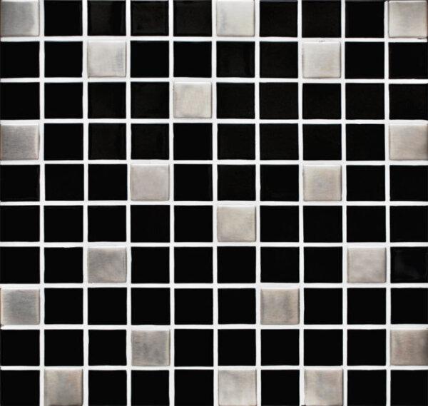 Pastilhas Adesivas Simples miscelânea nas cores pretas e cinza para a decoração de ambientes
