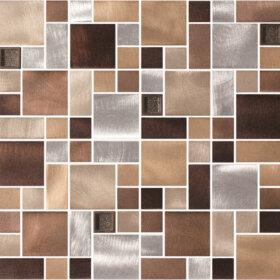 Pastilhas Simples Adesiva mosaico de cores em tons de marrom para a decoração de ambientes