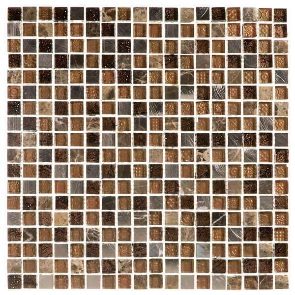 Pastilhas Simples Adesiva miscelânea em vários tons de marrom para a decoração de ambientes