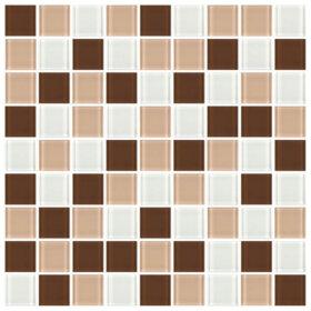 Pastilhas Simples Adesiva miscelânea de cores em tons de bege , marrom e branco.