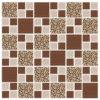 Pastilhas Simples Adesiva mosaico de cores em tons de marrom para decoração de ambientes