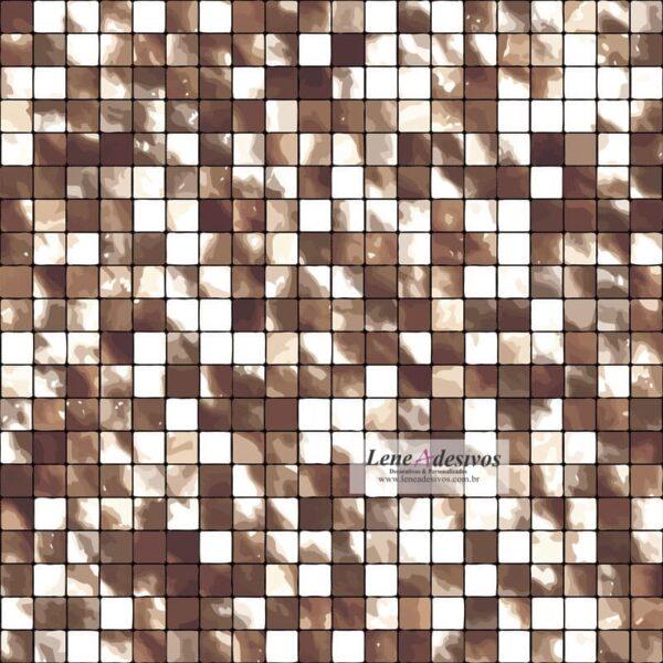 Pastilhas simples adesiva para decoração de ambientes miscelânea em tons de marrom