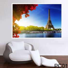 Painel para Parede Adesivo Paisagem Torre Eiffel para Quarto e Sala