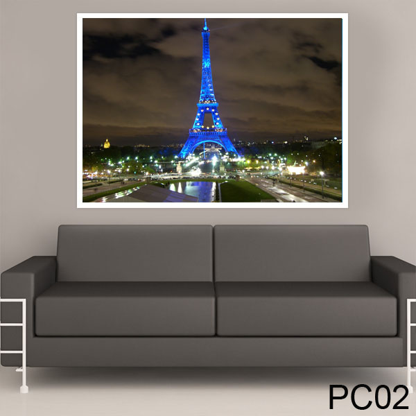 Painel para Parede Adesivo Torre Eiffel para Quarto e Sala