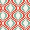 Pastilha simples adesiva para decoração de ambientes multiformas nas cores verde, vermelho e branco.