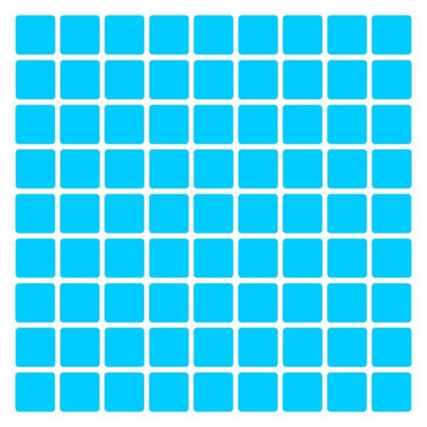 Pastilhas Adesivas decorativas Azul claro Simples para decoração de parede em ambientes como sala, quarto, cozinha e banheiros.