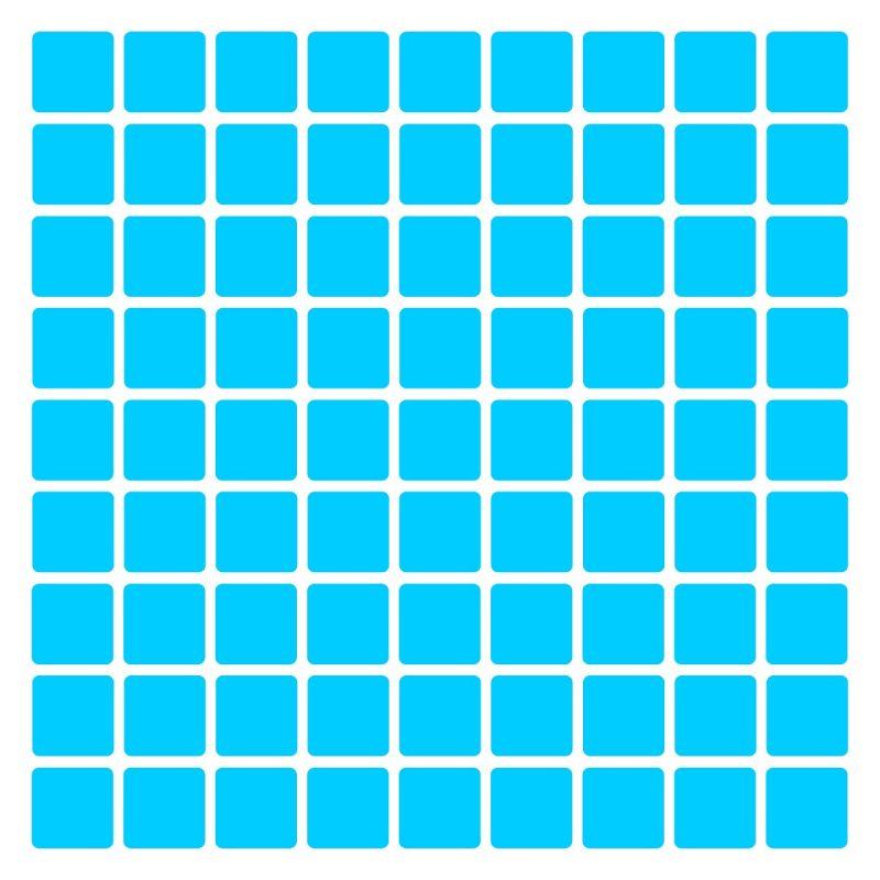 Pastilhas Adesivas decorativas Azul claro Simples