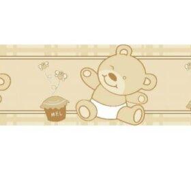 Faixas/Bordas Infantis em Amarelo Com Ursos
