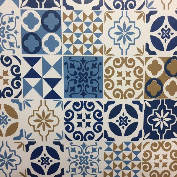 Armario Sala ~ Adesivos Azulejo Hidráulico Tons de Azul para decoraç u00e3o de Cozinha
