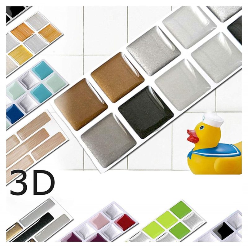 Vividtiles-6-Sheet-Black-Self-Adhsive-Smooth-Surface-Decor-Vinyl-Wallpaper-3D-Peel-and-Stick-Square-2